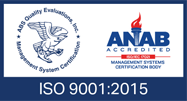 ANAB Acredited ISO 9001:2015